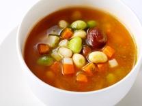 [9月のおすすめスープ] <br>北海道産ビーンズを使用した自家製ミネストローネ