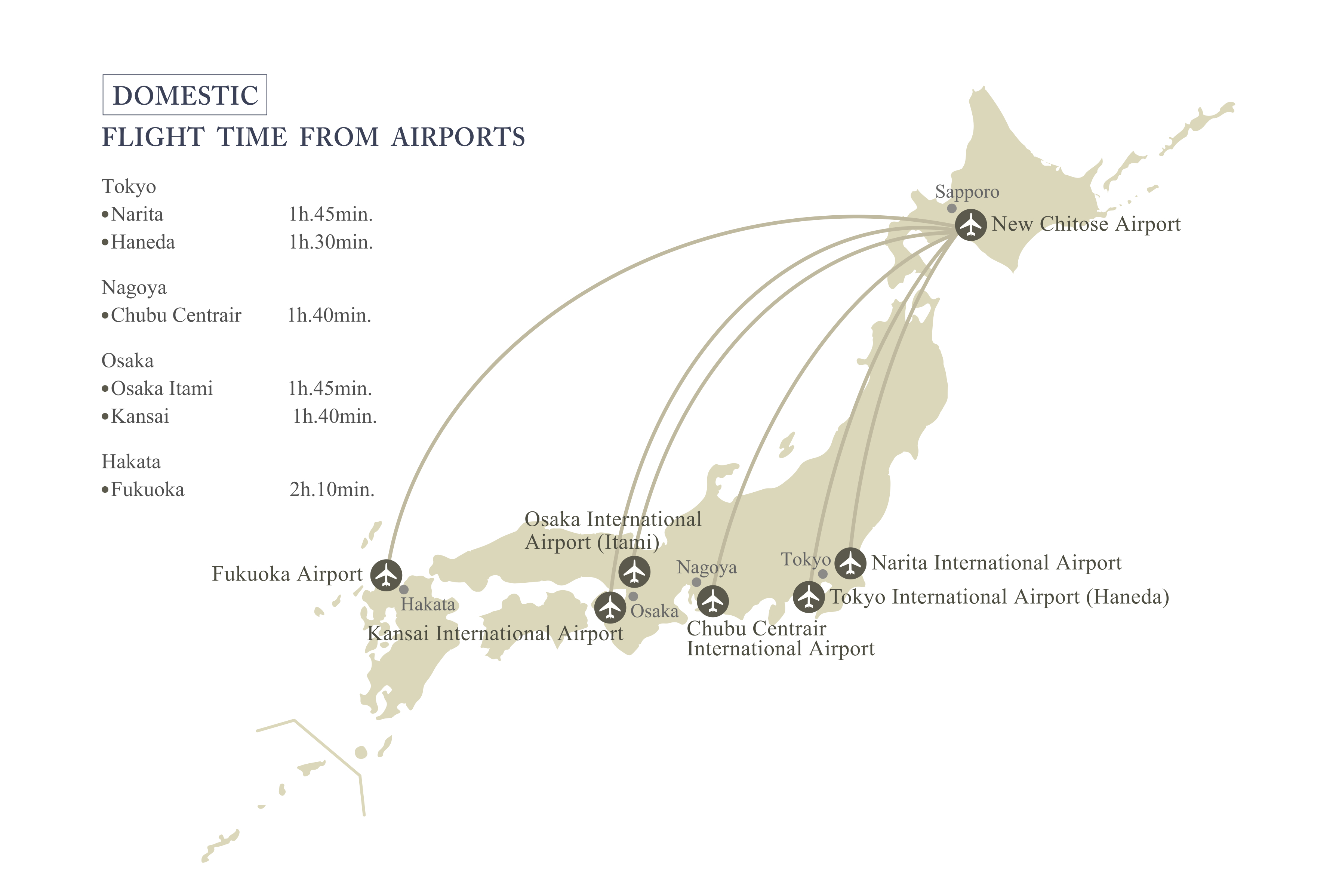 Access Map JR Tower Hotel Nikko Sapporoofficial Site - Japan map airports