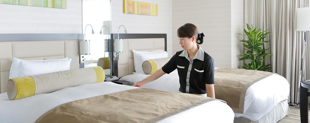 札幌を一望できる客室